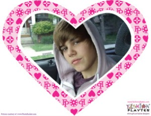 A FashionPlaytes Frame for Your Bieber Fever